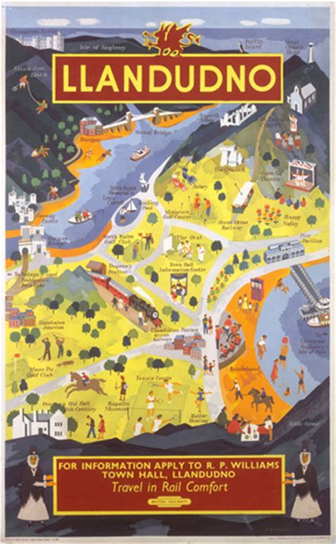 printable street map of llandudno llandudno art print by national railway museum at king mcgaw