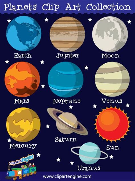 planets clipart our planets clip collection is a set of royalty free