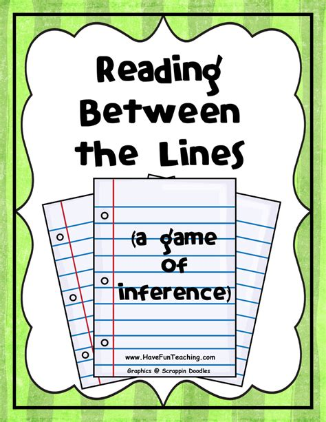 reading training the inference activities have fun teaching