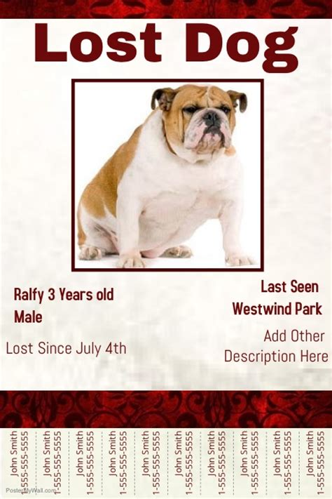 design a poster on your missing pet lost dog template postermywall