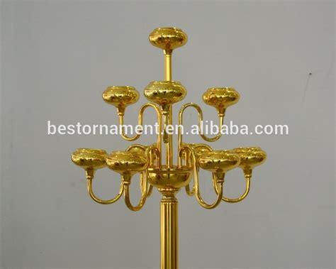 weddings cheap wholesale antique gold metal candelabras