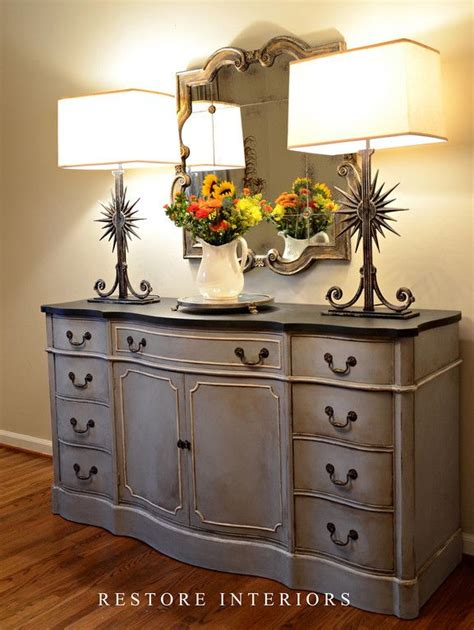 chalk paint grey furniture i mixed equal parts of sloan chalk paint in