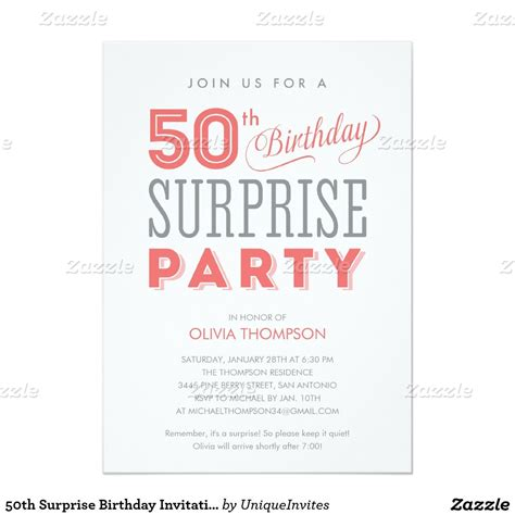Sample Invitation For 50th Birthday Party 50 Best Templates