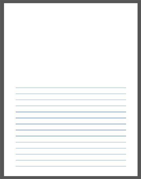 free printable small lined paper free printable writing paper with picture box 1000 ideas