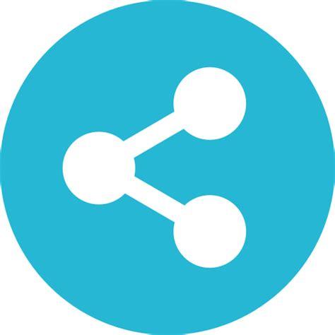 share Flat LightSeaGreen Icon