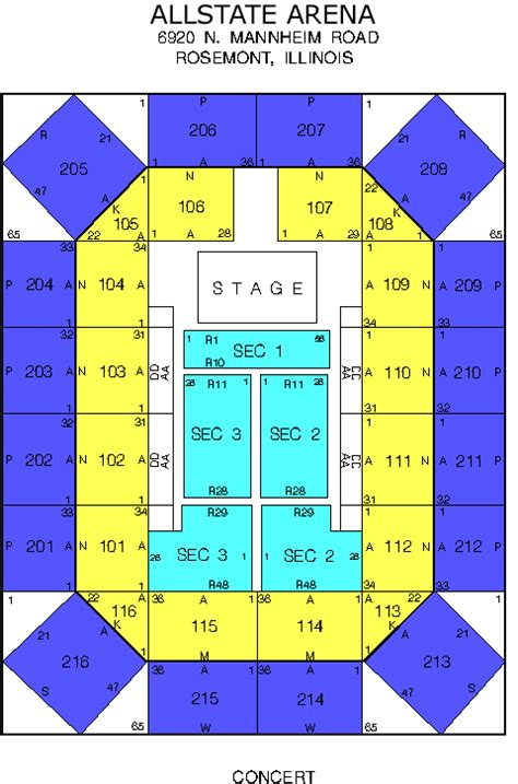 allstate arena seating chart venue seating charts 101 9fm chicago wtmx
