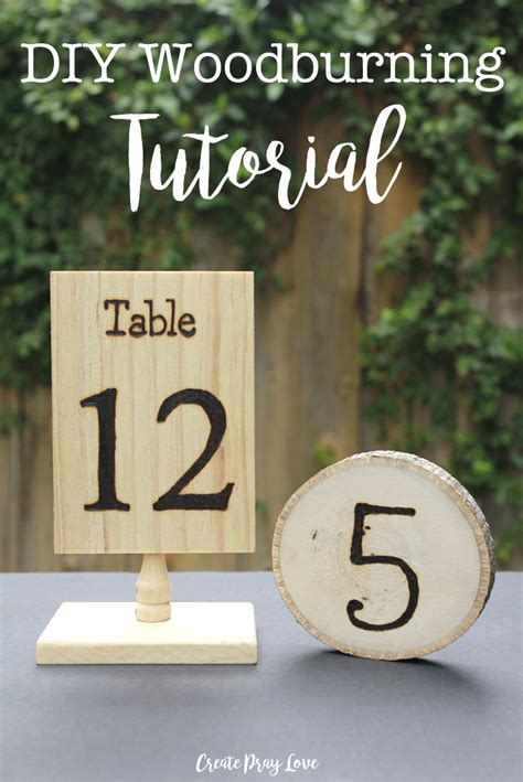 Wedding Table Numbers by Make Rustic Wedding Table Numbers With This Woodburning