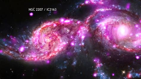 imagenes reales galaxias impresionante choque de dos galaxias espirales youtube