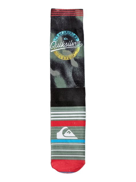 Printed Socks quiksilver printed crew socks ps006945a quiksilver