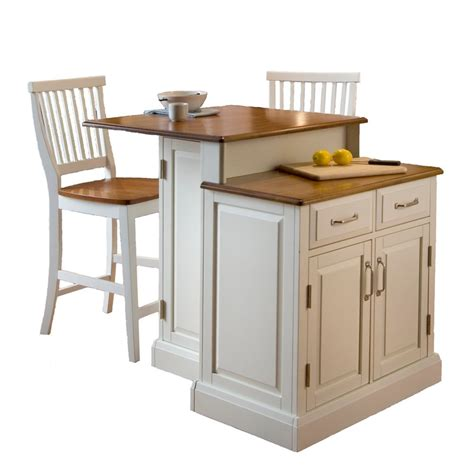 Kitchen Island Home Depot Canada by Woodbridge Two Tier Kitchen Island With Matching Stools