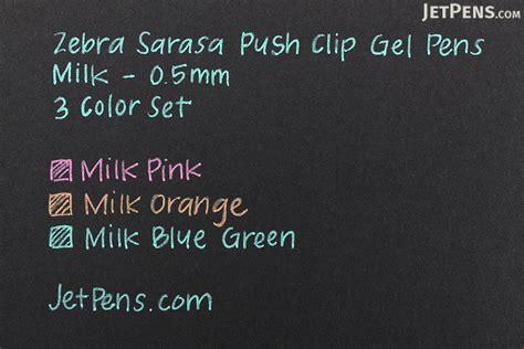 Sarasa Milk 5 Color Set zebra sarasa push clip gel pen 0 5 mm milk 3 color