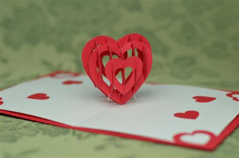 heart pop  card template