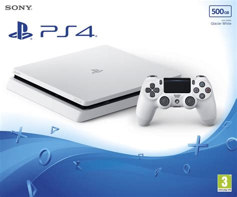 buy ps4 console sony playstation 4 slim 500gb console glacier white ps4