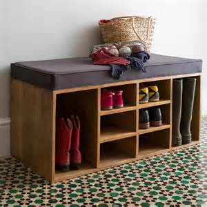 shoe storage with bench shoe storage bench by within home notonthehighstreet