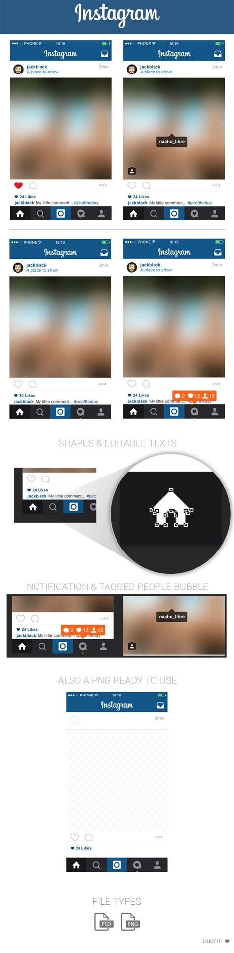 layout instagram gratis free instagram home layout ui psd may 2015 by marinad on