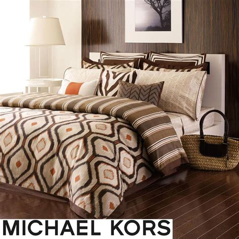 michael kors bedding michael kors serengeti 3 piece king size comforter set free shipping today