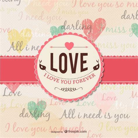 imagenes bonitas de amor vintage tarjeta de amor grunge descargar vectores gratis