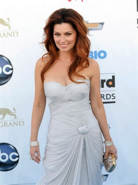 vicid celeb shania twain showing huge cleavage at the 2013 billboard