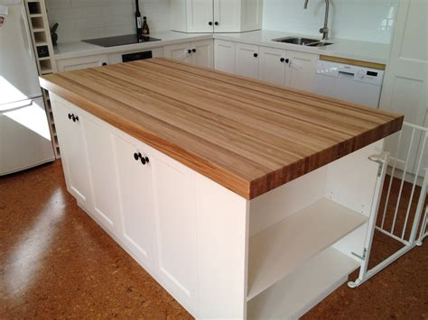 wooden kitchen bench butchers block table tops islands trolleys benchtop