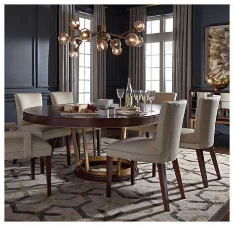 Delaney Dining Table & Sidney Chairs Modern Dining Room by Mitchell Gold Bob Williams