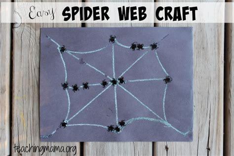 spider web craft easy spider web crafts