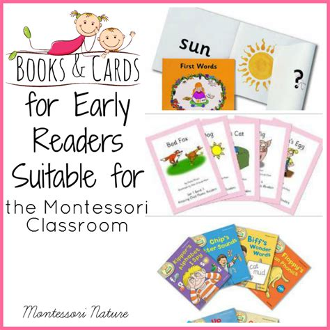Montessori Printable Books | books cards for early readers suitable for the