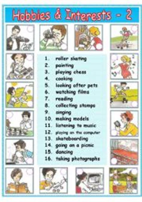 worksheet hobbies interests 2 2