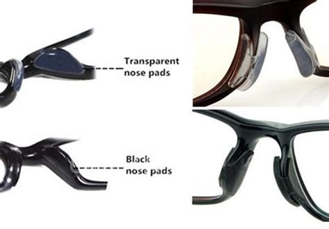 1 pair of soft silicone non slip nose pads eyeglass