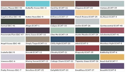 behr paint colors list behr paint color chart