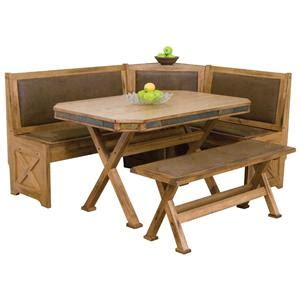 upholstered breakfast nook designs sedona breakfast nook set with upholstered seats slate tile conlin s furniture