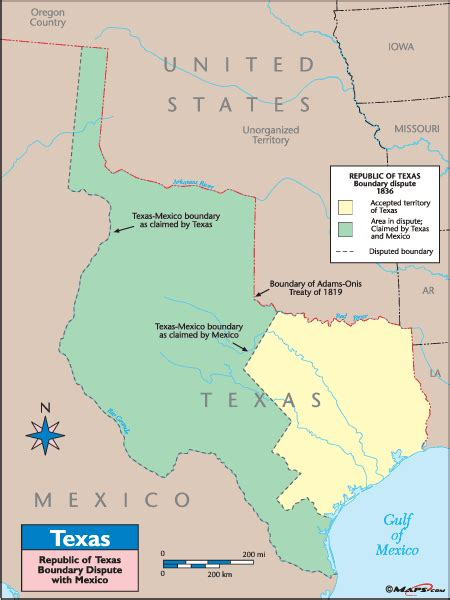 map of republic of texas texas historical map republic of texas boundary dispute with mexico by maps from maps