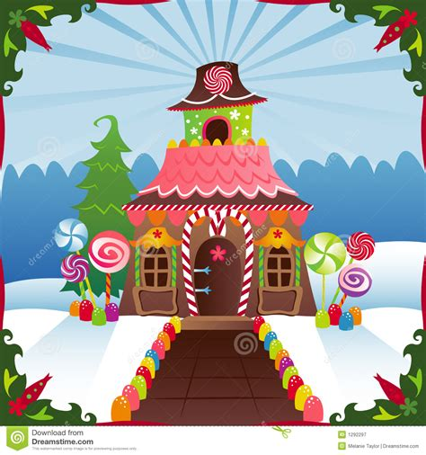 Treehouse Flowers - snowy gingerbread house royalty free stock photography image 1292297