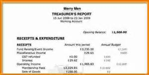 8 treasurer s report template expense report