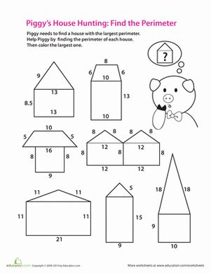 printable area worksheets for 2nd grade finding perimeter lesson plan education com