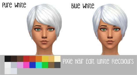 sims 3 pixie hair my sims 4 blog pixie hair edit and recolors by nyloa