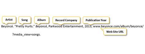 apa format audio recording video image music tv radio interview citation