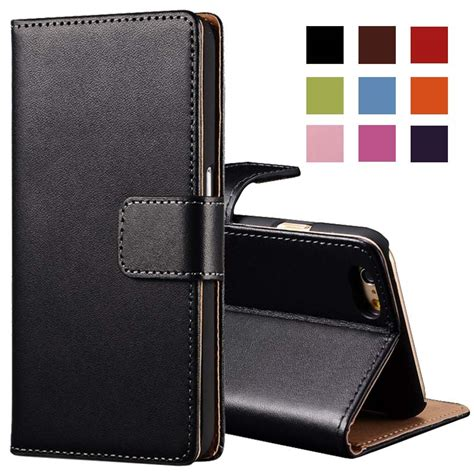 Best Seller Flip Wallet Leather Genuine Iphone 6 6s tomkas flip genuine leather wallet for iphone 6 6s plus with card slot kickstand phone