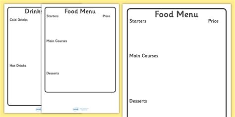 editable menu writing frame editable editable menu
