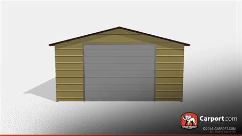 Garage Sale X21 Clearance One Car Metal Garage 18 X21 X8 Carport