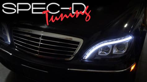 mercedes s class headlights specdtuning installation video 1998 2006 mercedes benz