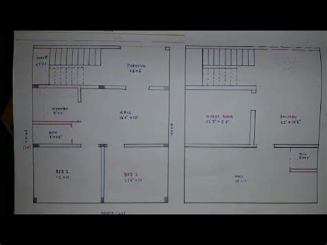 24 × 28 North face house plan map naksha   YouTube