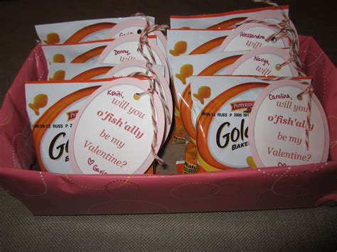 valentines for classmates day gift for classmates quot will you o fish ally