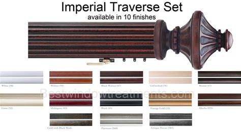 imperial custom woodworking imperial custom select decorative wood traverse rod set