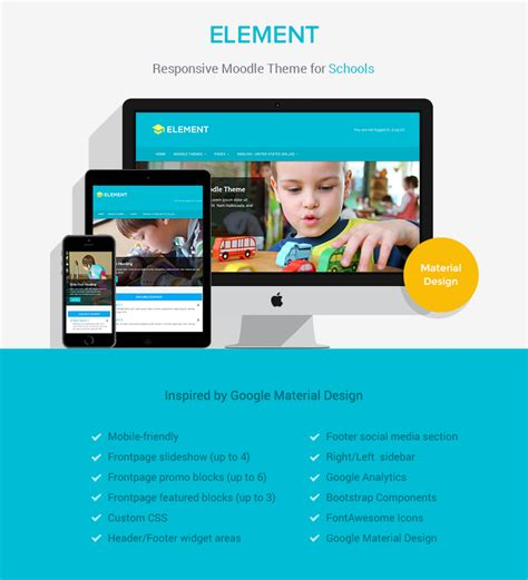 moodle themes for schools element responsive moodle theme for schools colleges