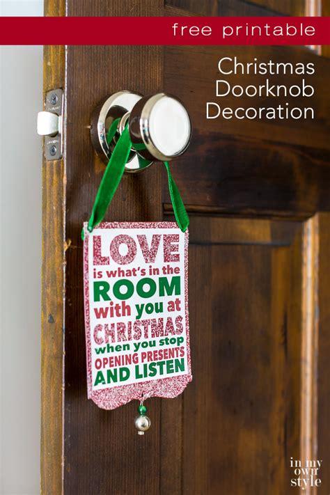printable christmas door decorations christmas doorknob decoration free printable in my own