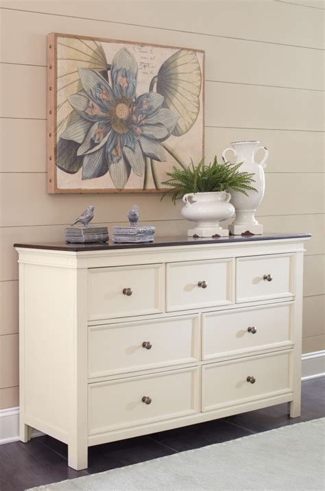White Brown Dresser Woodanville White Brown Dresser B623 31 Dressers