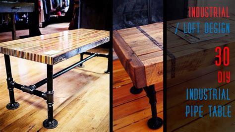 diy industrial pipe desk 30 diy industrial pipe table youtube