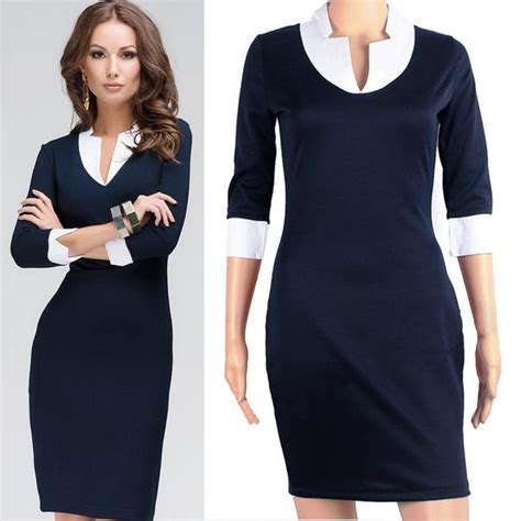 30708 White Informal V Neck Dress Dress Casual Mini Putih v neck trendy design 3 4 sleeve all occasion dress