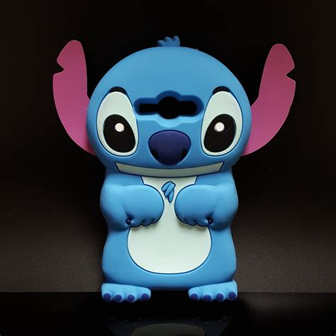 Samsung Galaxy J1 Ace 3d Stitch 4 Soft Silicon new 3d stich soft silicone back cover lilo stitch for samsung galaxy j3 2015