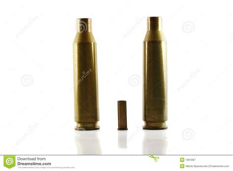 with used bullet casings three used bullet casings royalty free stock photography